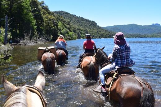 Horse trek to the mountain tarn
